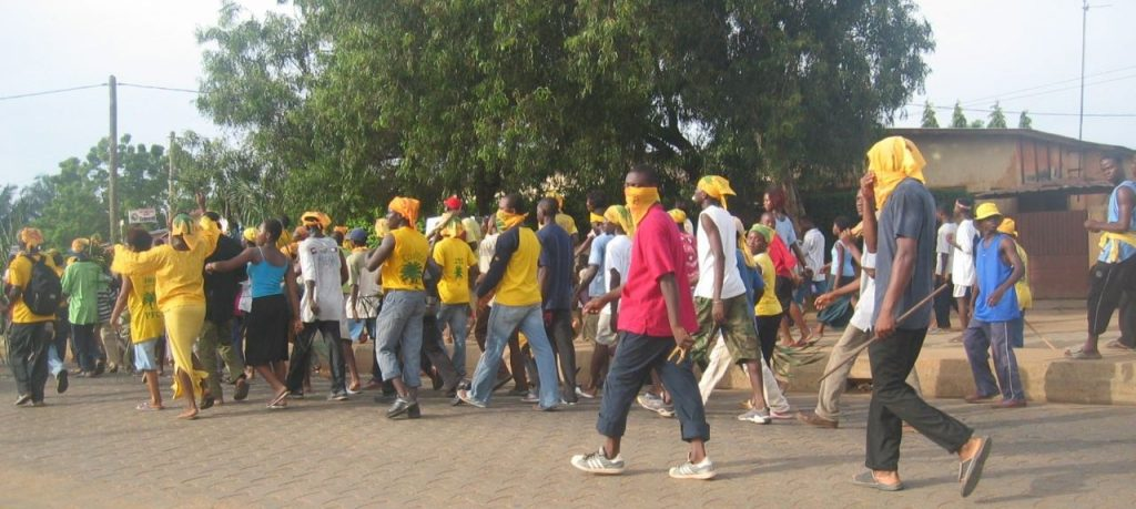 People taking to the streets in Togo