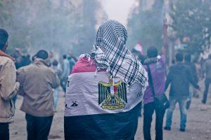Man in Egyptian Flag