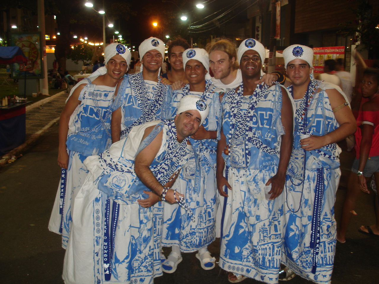 "Me with 9 ""Sons of Ghandi"" in Salvador - with which I left each night again and again! :)"